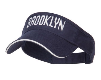 Brooklyn Embroidered Sandwich Bill Visor