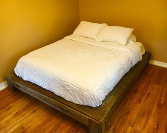 Reclaimed barn wood platform bed (queen size)