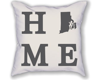 Rhode Island Home State Pillow