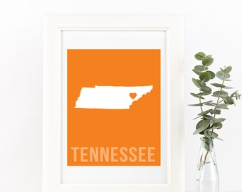 Tennessee Home Print – Custom Tennessee Print, Tennessee Wall Art