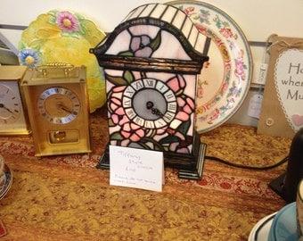 Beautiful tiffany style clock/lamp