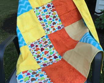 Turtle Patchwork Baby Blanket