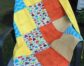 Turtle Patchwork Baby Blanket