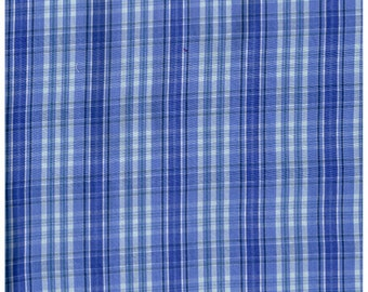 Fat Quarter, Recycle Fabric, PUR1430RF,  100% Cotton Fabric, Purple, and White Plaid