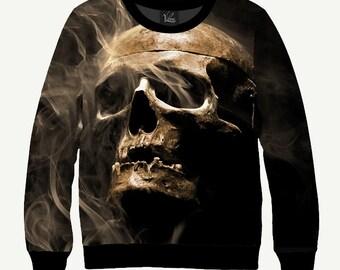 Skull & Smoke - Men's Women's Sweatshirt   Sweater - XS, S, M, L, XL, 2XL, 3XL, 4XL, 5XL