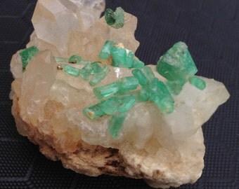 Emerald mineral matrix