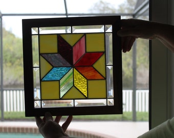 Quilt Block Stained Glass