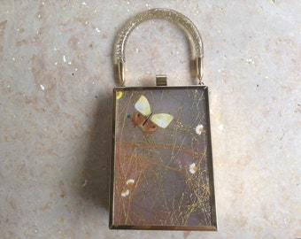 Butterfly Lucite Purse