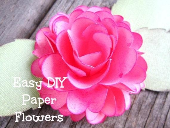 Paper Rose Template 4