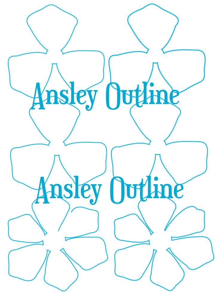 Delicate image with regard to printable paper flower templates