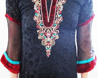 Hippie Beaded Bohemian Dress