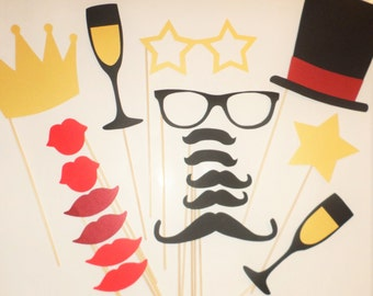 Photo booth prop Birthday photo props Wedding party photo props Holiday props Birthday party Mustache Party props