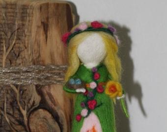 OOAK Season Fairy needle felted