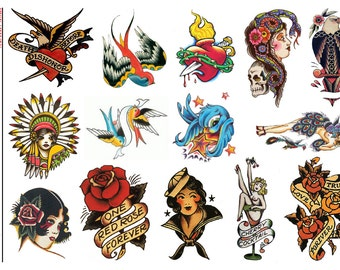 Vintage Rockabilly IV - Temporary Tattoos