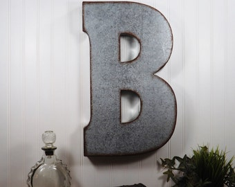 Metal Letters For Wall Decor metal letters | etsy