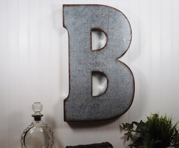 Large Metal Letters For Wall Decor : Large metal letter inch wall decor