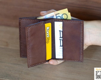 Mens leather wallet/ Slim wallet leather/ Minimalist leather wallet/ Leather card holder/ Kangaroo leather/ Gift for him/ Christmas gift