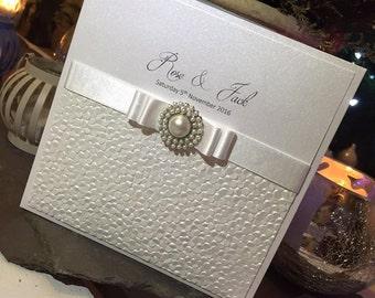 The 'Rose & Jack' Wedding Invitation / Wedding Invites / Wedding Invitations / White Wedding Invites / White Wedding / Wedding Invitations