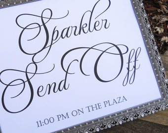 Personalized Wedding Sign, SPARKLER SEND OFF Sign, Custom Wedding Sign, Wedding Signs, Wedding Signage, Wedding Decorations, Reception Sign
