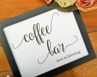 Wedding Sign, COFFEE BAR Sign, Wedding Signs, Reception Decor, Wedding Signage, Coffee Bar Station, Reception Signs, Coffee Bar Decor