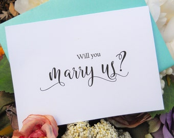 WILL You MARRY US Card, Officiant Card, Will You Be My Officiant, Wedding Officiant, Wedding Officiant Gift, Gift for Officiant