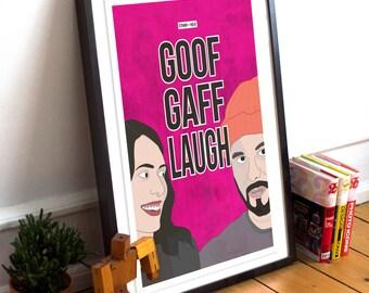 "Ethan  & Hila Klein Inspired Fan Art Poster - ""Goof Gaff Laugh"". Beanie King, DJ Khaled, Hila Klein, H3H3 Print, Typography Poster."