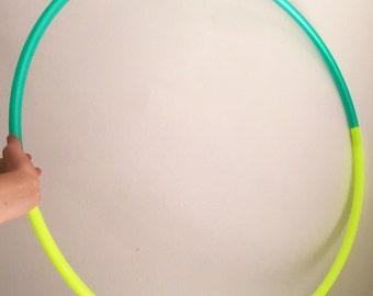 Two Toned Polypro Collapsible Travel Hula Hoop