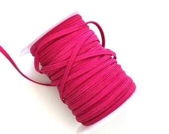 3mm Hot Pink Skinny Headband Elastic - 5 Metres
