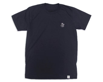 Ampersand Embroidery Tee (Navy Blue)