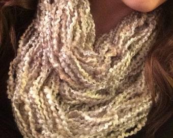 Arm knit double cowl