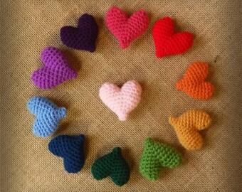Heart Brooch in Crochet