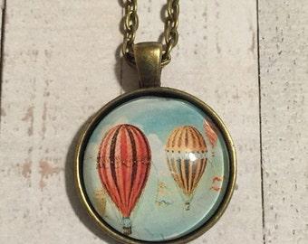 Hot Air Balloon Pendant Necklace