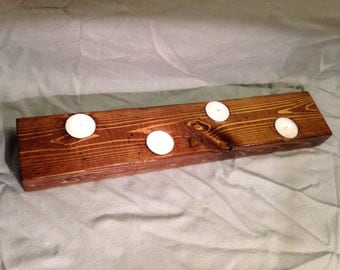 Rustic tea light holder centrepiece