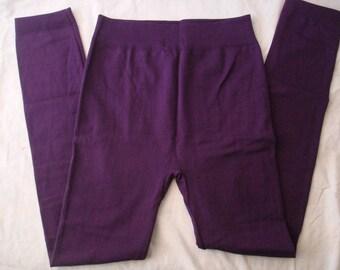 Purple Fleece Leggings