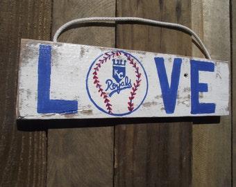 Kansas City Royals sign | Baseball team sign | Pallet baseball sign | Royals baseball team sign | Rustic baseball sign