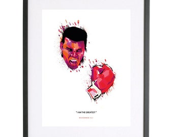 Muhammad Ali 'I am the Greatest' Print