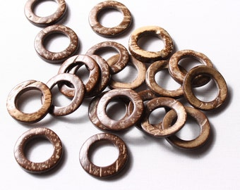 12 rings 25mm or 30mm, coco Brown (8240)