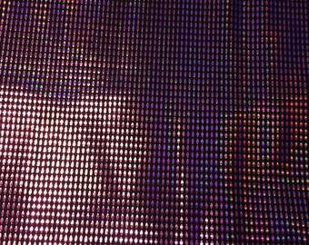 "Hot Pink Ovals on Black Spandex Stretch Fabric  43"" x 58"""
