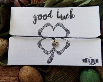 Good Luck Gift Good Luck Card Wish Bracelet