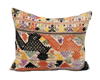 Vintage Tapestry Textile Pillow
