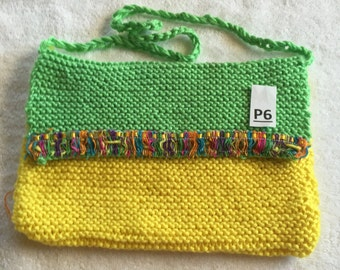 yellow and green purse