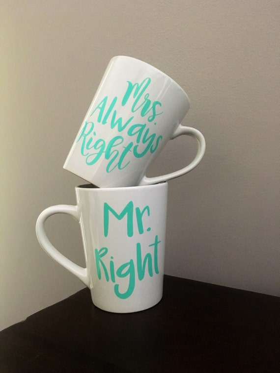 Mrs Always Right Collection Review: Mr. Right & Mrs. Always Right Coffee Cup Set Honeymoon