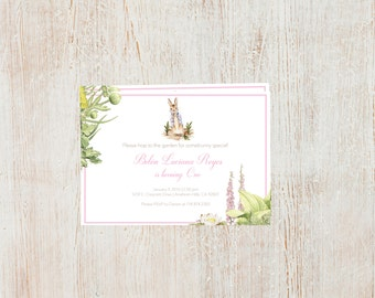 Peter Rabbit Birthday Invites