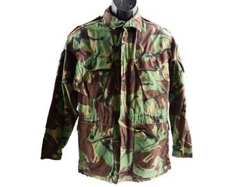 Vintage British Army Jacket Smock Light Camo Camouflage Hunting Surplus