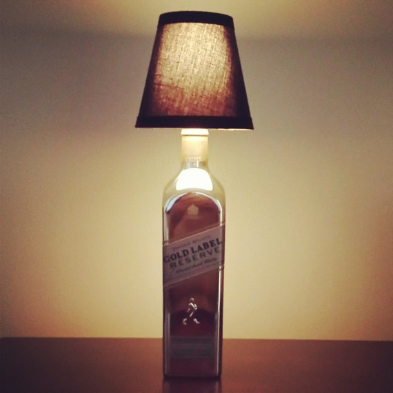 Handmade LED Johnny Walker Gold Label Liquor Bottle Lamp