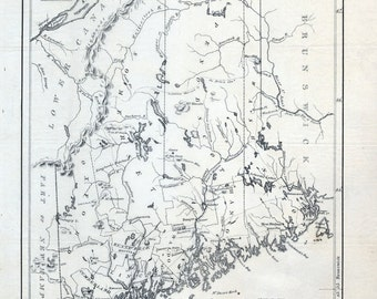 1831 Map of the state of Maine
