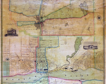 1851 Map of the city of Augusta Maine