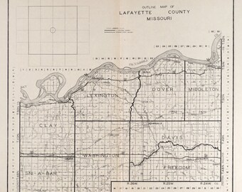 1920 Map of Lafayette County Missouri