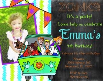 Scooby doo invite