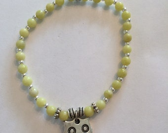 Yellow Serpentine Owl Bracelet
